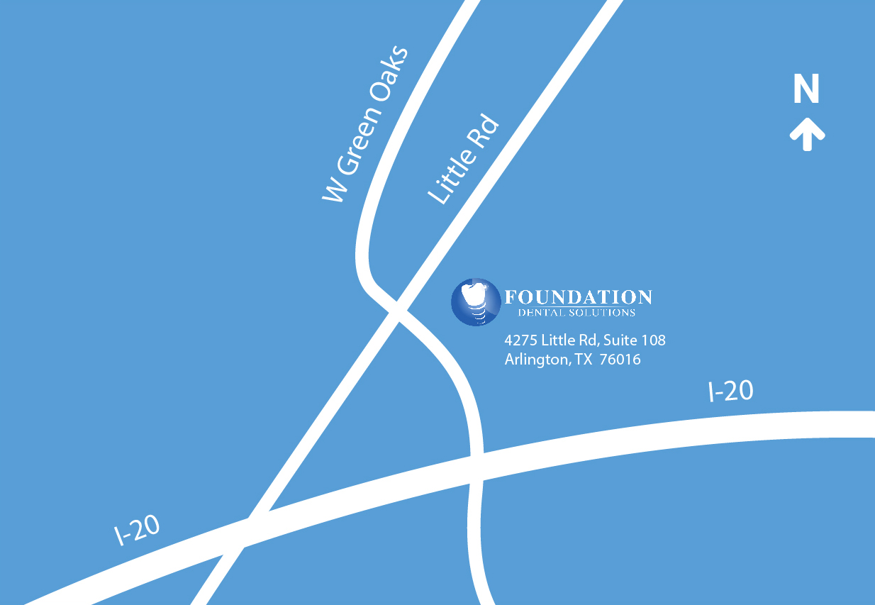 Graphic map of Foundation Dental Solutions location