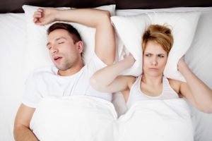 Snoring could or couldn't be a sign of sleep apnea.